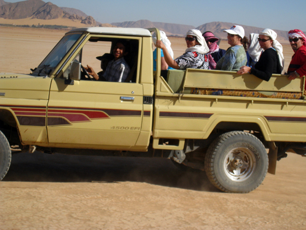 off road in Wadi Rum, Jordan