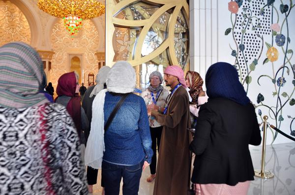 inside the Sheikh Zayed Grand Mosque, Abu Dhabi