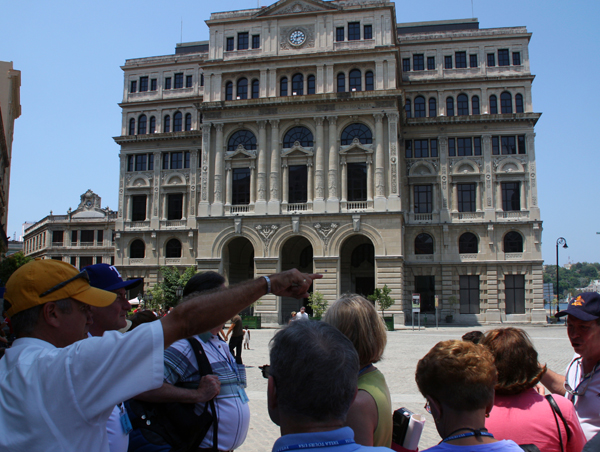 old Stock Exchange building, Plaza de San Francisco, Havana