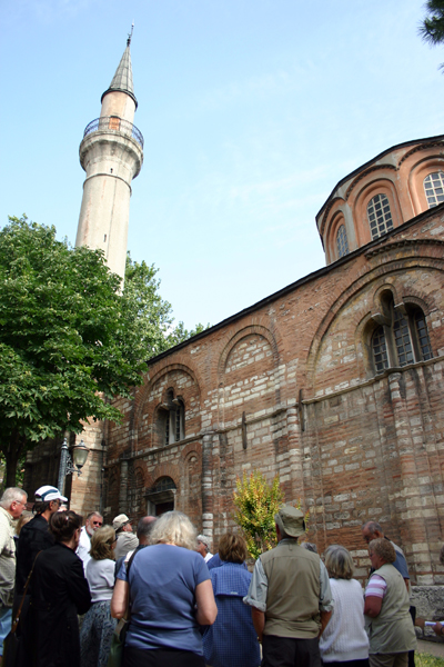 outside the Church of the Holy Savior in Chora in Istanbul