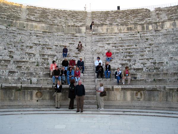in the Roman theater of Amman, Jordan