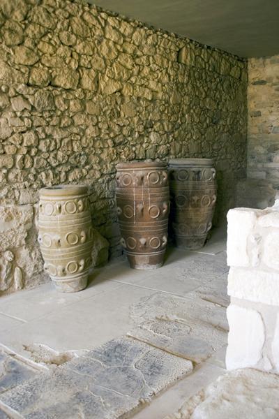Minoan storage jars, Knossos Palace, Crete