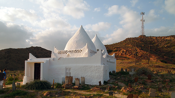 the Bin Ali tomb and mosque near Mirbat in the Dhofar governorate, southern Oman