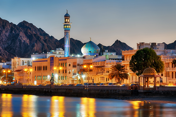 the Muttrah Corniche in Muscat
