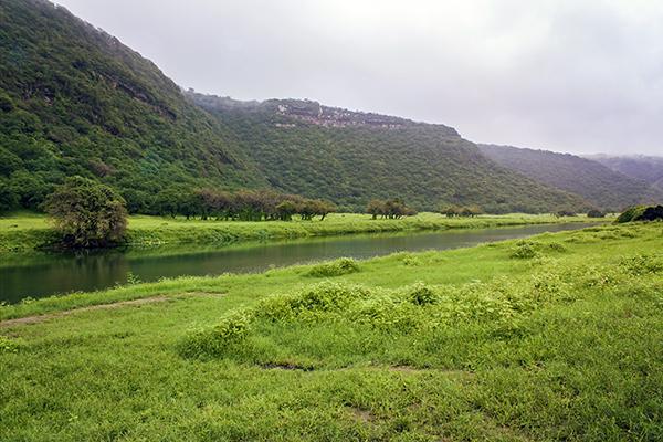 Wadi Darbat in Dhofar, southern Oman