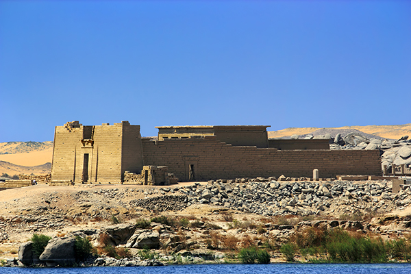 Mandulis (Kalabsha) Temple from Lake Nasser, near Aswan, Egypt