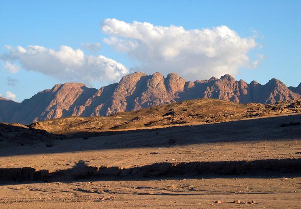the Sinai desert, where the Israelites wandered after leaving Egypt