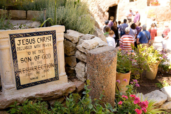 the Garden Tomb, where some traditions believe Jesus was buried