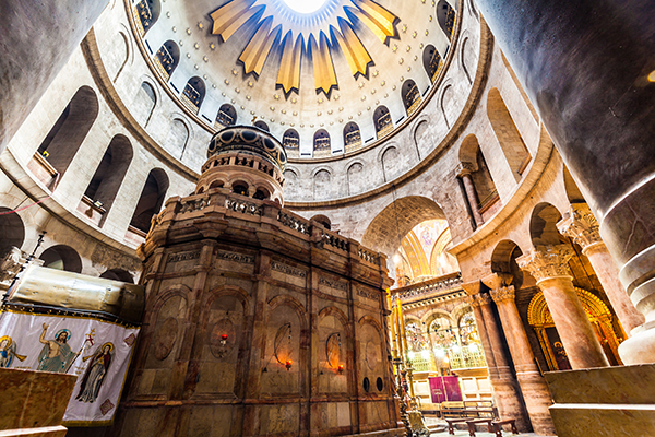 Other traditions hold that Jesus was buried here, in the Church of the Holy Sepulchre.